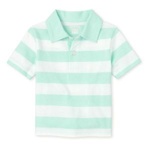 NWT Children's Place Sea Green Striped Polo Top 2T